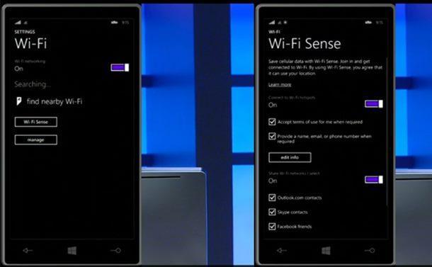 wifi sense windows phone 81