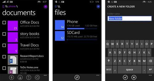 gerenciador de arquivos windows phone 81 maio img1