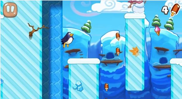 hopping pinguim jogo windows phone img1