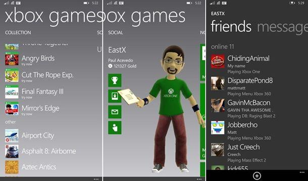 xbox games hub app jogo windows phone 81