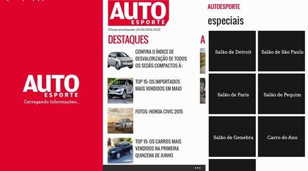 autoesporte app windows phone