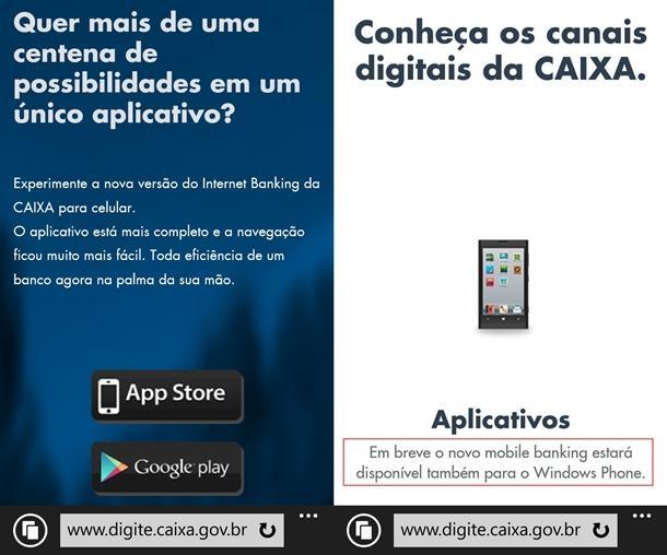 caixa mobile app windows phone