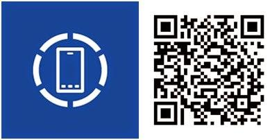 centro de dispositivos app windows phone qr code