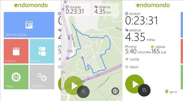 endomondo sport tracker app windows phone