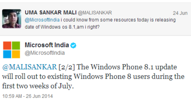 tweet microsoft india windows phone 81 update