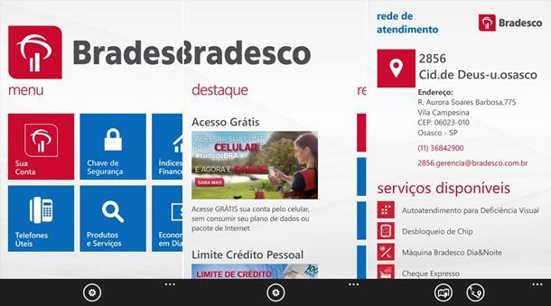 bradesco app banco oficial windows phone img1
