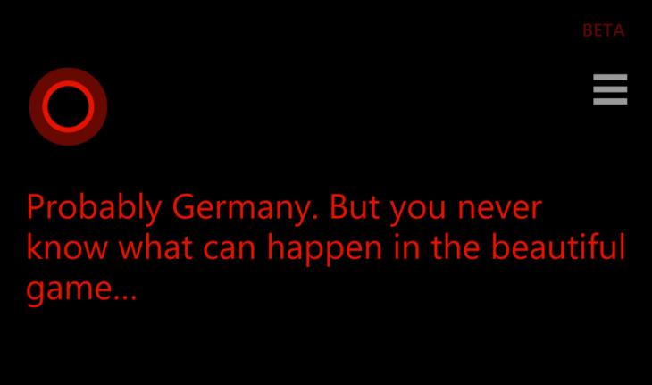 Quando Cortana previu a derrota do Brasil contra a Alemanha na Copa da FIFA em 2014