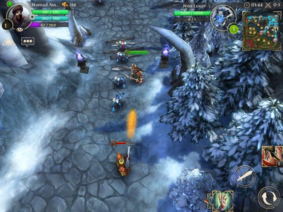 heroes of older & chaos game windows phone img1
