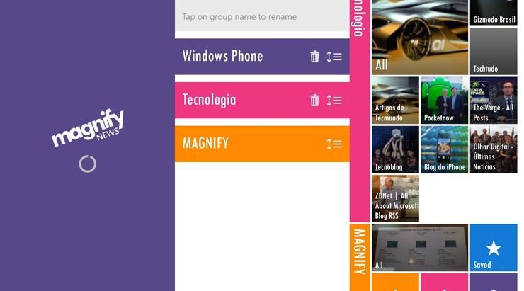 magnify news reader app windows phone img1