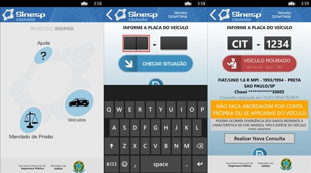 O Sinesp Ja Tem Um Aplicativo Oficial Para O Windows Phone