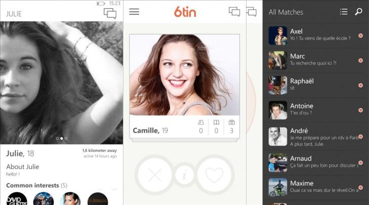 6tin app windows phone cliente tinder