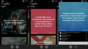 cryptic cliente secret app windows phone