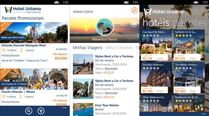 Hotel Urbano app oficial windows phone