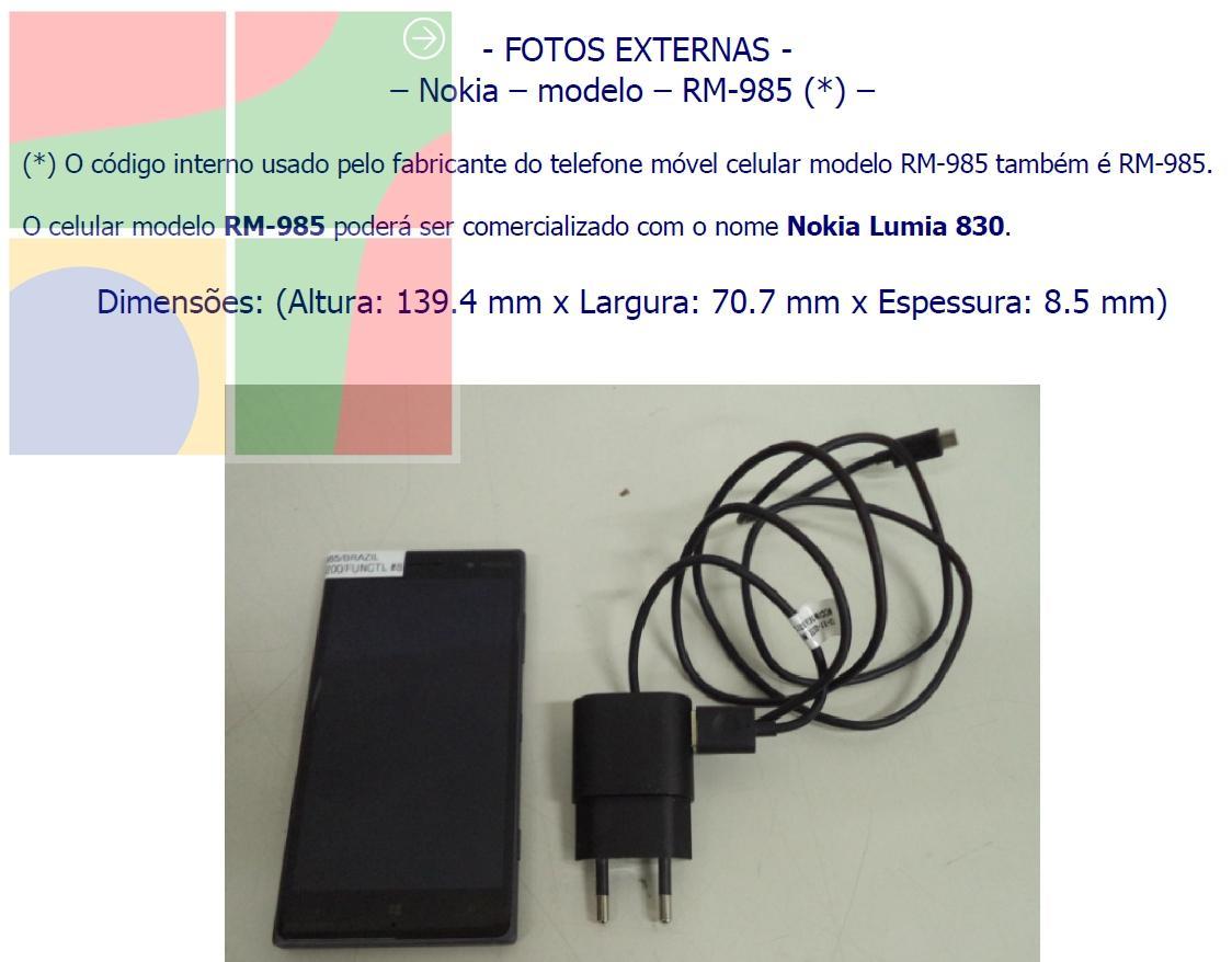Nokia Lumia 830 homologado pela ANATEL img13