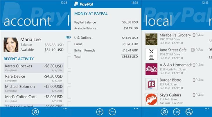 paypal app windows phone img11