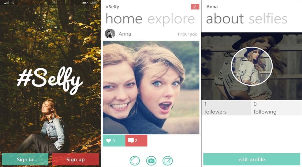 selfy app windows phone rede social selfies