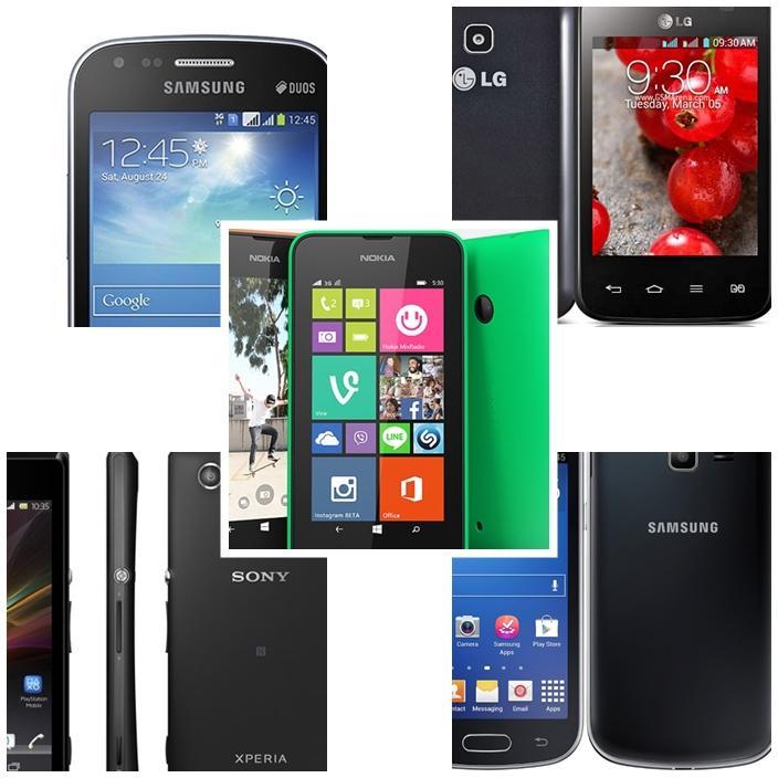 smartphone por menos de 400 reais android e windows phone