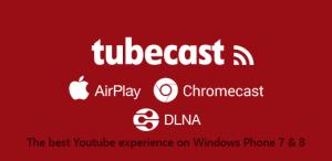 tubecast app youtube windows phone header