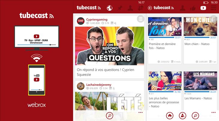 tubecast app youtube windows phone