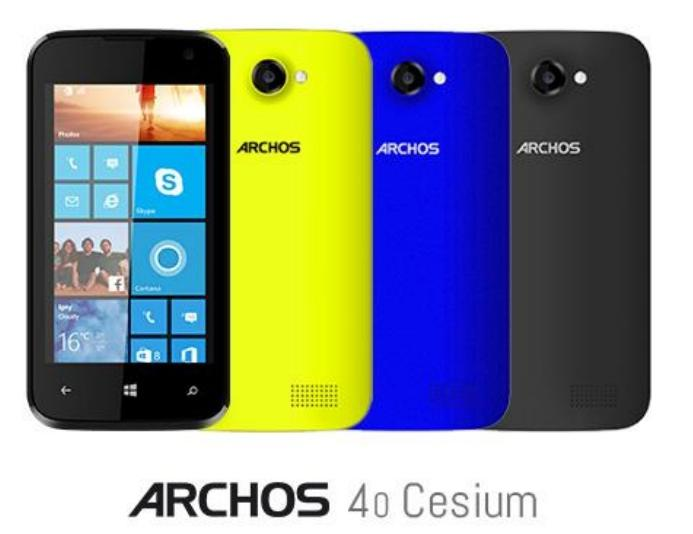 archos 4o cesium smartphone windows phone