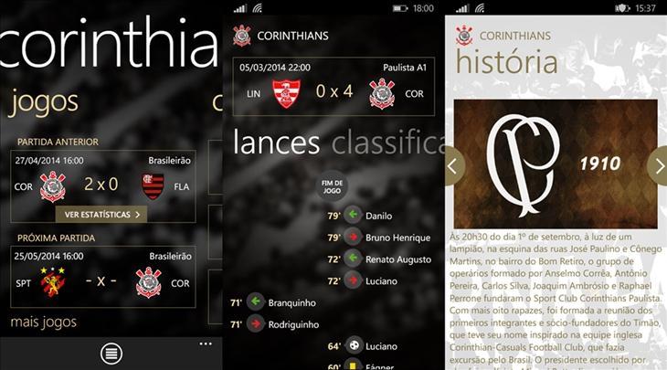 corinthians oficial app windows phone