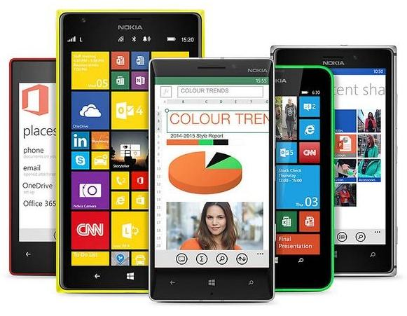 familia nokia lumia windows phone 81