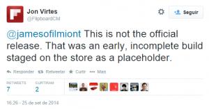 flipboard app oficial windows phone tweet