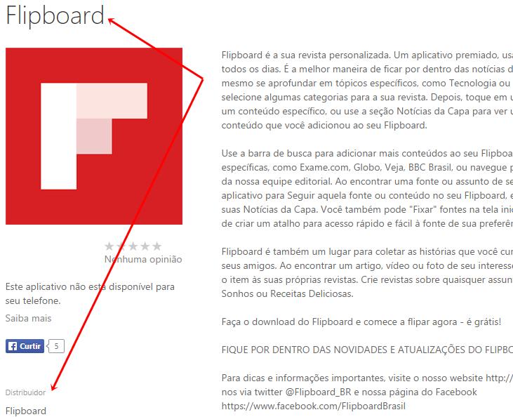 flipboard app oficial windows phone wpstore