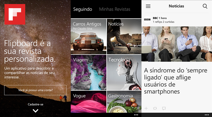 flipboard app oficial windows phone