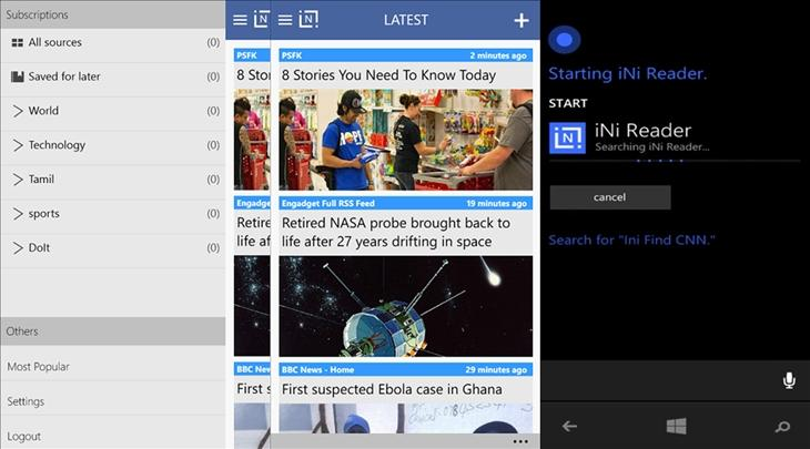 ini reader feedly cliente windows phone ok