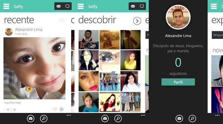 selfy app rede social selfies windows phone
