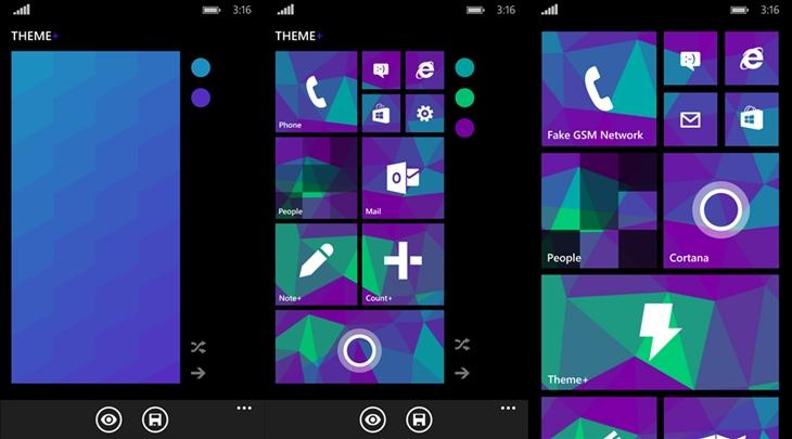 theme mais app windows phone