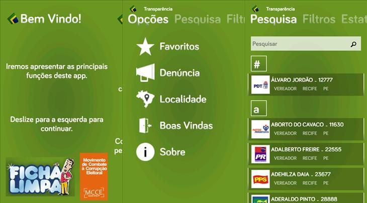 transparencia app windows phone