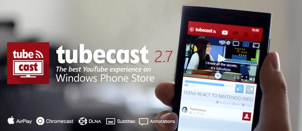 tubecast app youtube windows phone img11