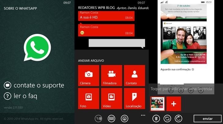 whatsapp beta atualizado windows phone