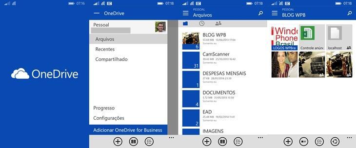 Onedrive app windows phone