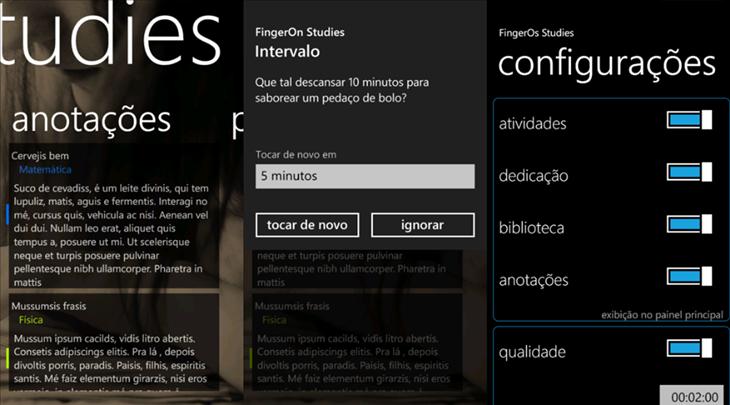 fingeron studies app windows phone 8