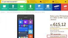 Faltou Lumia 730 na loja online da Nokia? Então compre no varejo, já tem loja vendendo
