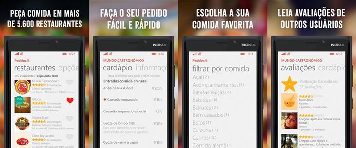 pedidosja app windows phone
