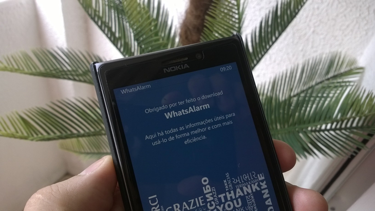 whatsalarm app windows phone header