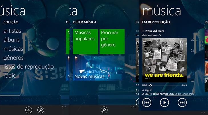 xbox music app windows phon