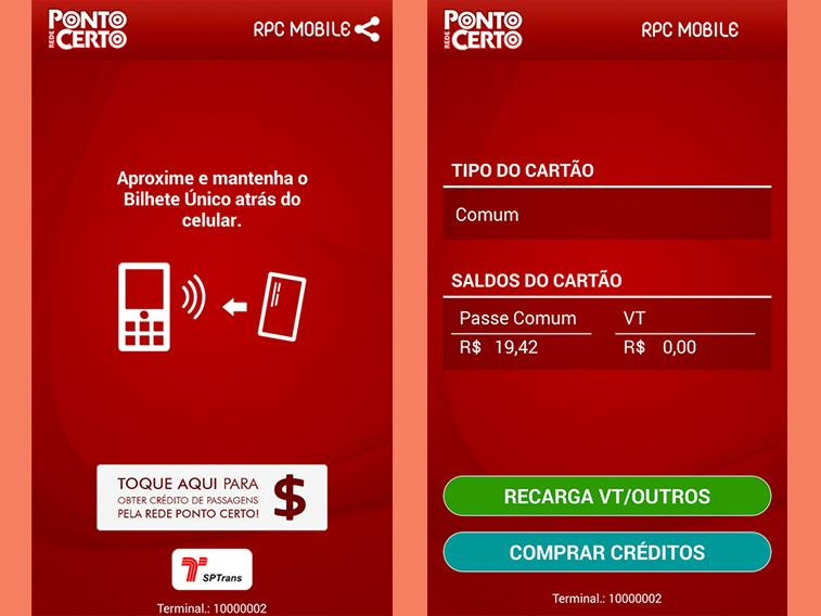 bilheteunico app