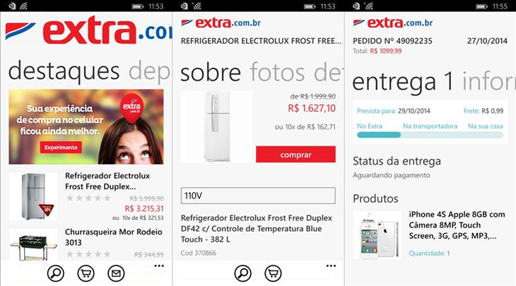 extra loja app windows phone