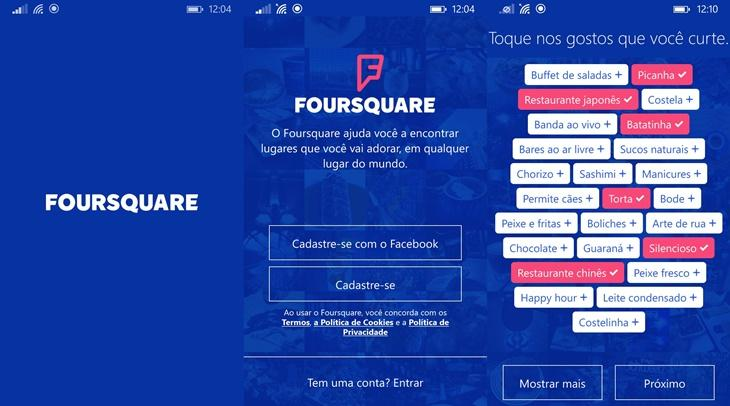 foursquare novo windows phone 1