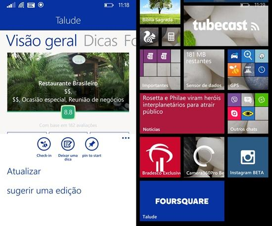 O novo aplicativo do Foursquare foi atualizado e já tem novidade