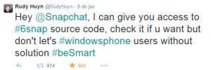 6snap codigo snapchat windows phone