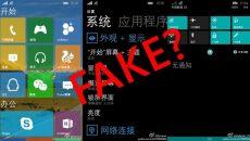 Imagens vazadas da versão mobile do Windows 10 devem ser falsas