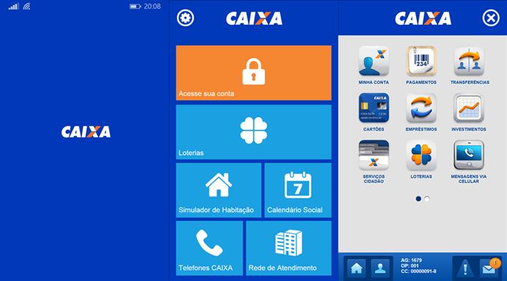 caixa app windows phone header