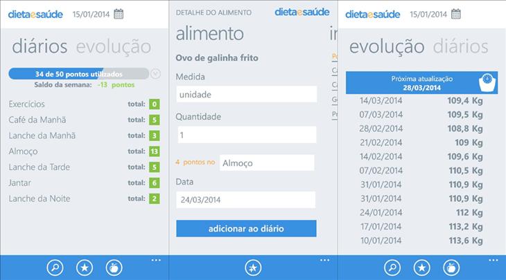 dieta e saude app windows phone
