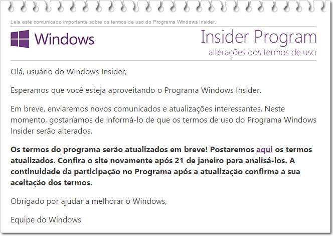 email insider program windows 10